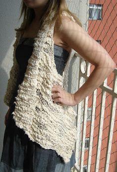 Colete de tricot - VilaClub  Vou aproveitar para o fio rosa antigo da Linea Italia