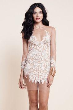 For Love and Lemons | Luan Mini Dress White