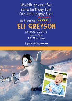2nd Birthday Ideas First Birthdays Penguins Invitation Second Anniversary
