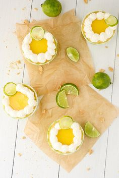 Key lime cupcakes - these are too cute!