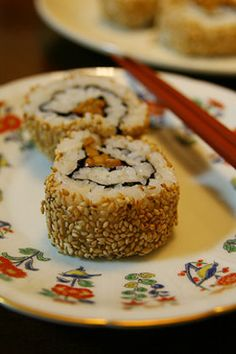 Recipe: Natto & Sesame SeedsRoll for Vegan Sushi|納豆裏巻き寿司