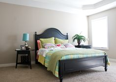 The Master bedroom of the Coventry II floor plan by Ball Homes.