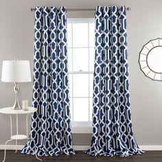 Lush Decor Edward 2-pk. Room Darkening Curtains - 52'' x 84'', B