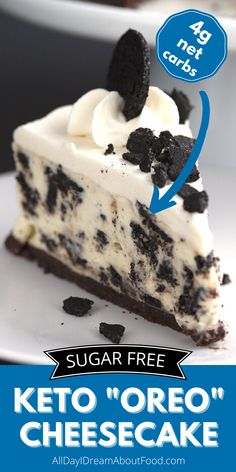 The trick to getting keto desserts to taste like Oreos is the cocoa powder. You can use any old cocoa powder, but if you want that really deep dark chocolate flavor, you really need really dark or even black cocoa powder. Low Carb Chocolate, Chocolate Flavors, Chocolate Recipes, Cookies And Cream Cheesecake, Low Carb Cheesecake Recipe, Ww Recipes, Low Carb Recipes, Dessert Recipes, Low Carb Sweets