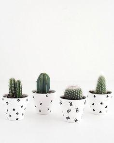 Un cache pot graphique - Marie Claire Idées
