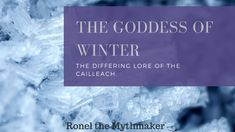 I'm enchanted by the old lore of the world – especially the Celtic goddesses. The Cailleach is one of the most fascinating, powerful and terrifying of the Celtic goddesses. Winter Goddess, Celtic Goddess, Fairy Queen, Beltane, Mythological Creatures, Kitchen Witch, Samhain, Folklore, Spirituality