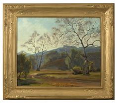 Aaron Kilpatrick (1872-1953 San Luis Obispo, CA). Sycamore landscape, signed lower left: Aaron Kilpatrick, numbered verso: 185, oil on canvas, 20'' H x 24'' W