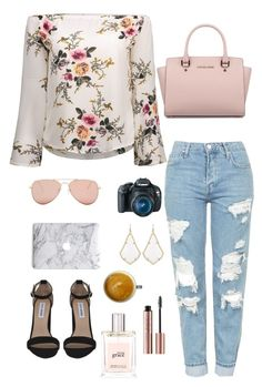 """""""Untitled #26"""" by cannjoy on Polyvore featuring Steve Madden, Betsey Johnson, Topshop, Michael Kors, Eos, Kendra Scott and philosophy"""