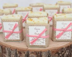 Rustic Handmade Soap Favors! Perfect for Wedding Favors, Bridal Showers or Baby Showers! Favors are wrapped in soft burlap and tied with