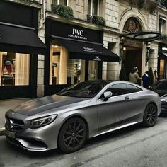 Satin platinum Mercedes S63 coupe