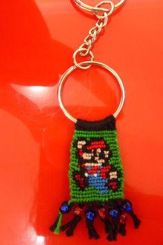 Added by luz0928 Friendship bracelet pattern 319 #friendship #bracelet #wristband #craft #handmade #super #mario