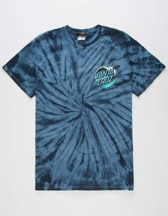 Tie dye print tee with a Santa Cruz wave dot graphic at the left chest with a larger graphic screened on the back. Cotton Shirts For Men, Boys T Shirts, Men's Shirts, Camisa Guess, Polka Dot T Shirts, How To Tie Dye, Teen Fashion Outfits, Men's Fashion, Sweatshirts