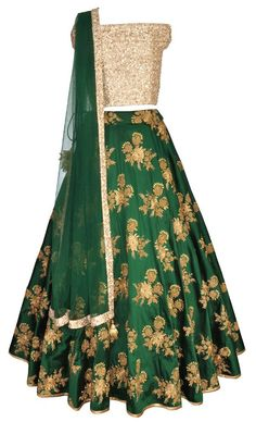 Bottle Green Off Shoulder Lehenga Pakistani Dresses, Indian Dresses, Indian Outfits, Eid Outfits, Eid Dresses, Brocade Dresses, Bridal Dresses, Evening Dresses, Indian Wedding Gowns