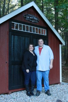 Vinnie & Beth with their Kloter Farms Pub Shed