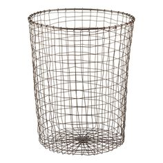"Enjoy free shipping on all purchases over $75 and free in-store pickup on the Rustic Marché Steel Trash Can at The Container Store. Our Marché Wastebasket is reminiscent of French market baskets - add it to your home office or powder room to add undeniable style to your space.  It coordinates nicely with our <a href=""/s/storage/rustic-marche-steel-wire-storage-baskets/1d?productId=10029530"">Marché Baskets</a>."
