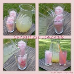 Cotton Candy Lemonade?!?!  And apparently you can also make Cotton Candy Mojitos!!!  Perfect combo of my two favorite sweet treats!!