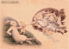 When the rabbit caught paintings - Taiwan illustrator Shae healing painted the… Bunny Drawing, Bunny Art, Cute Bunny, Rabbit Illustration, Illustration Art, Illustrations, Dibujos Cute, Rabbit Art, Honey Bunny