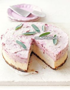 Cheesecake with white chocolate mousse plums 5