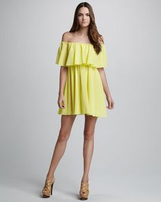 Shari Off-The-Shoulder Dress by Alice + Olivia at Neiman Marcus.
