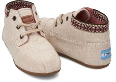 TOMS Burlap Trim Women's Tribal Boots because you could totally wear these right now with some thick tights or cute wooly socks