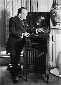 In September 1906, Johnson and his engineers designed a new line of phonographs with the turntable and amplifying horn tucked away inside a wooden cabinet. These internal horn machines, trademarked with the name Victrola, were first marketed to the public in August of that year and were an immediate hit. Victrolas became by far the most popular brand of home phonograph, and sold in great numbers until the end of the 1920s.