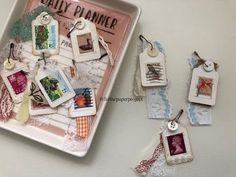 Embellishments - Using Cancelled Stamps - Liz The Paper Project - YouTube