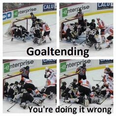 Goaltending... It would be a Flyers vs. Pens game!