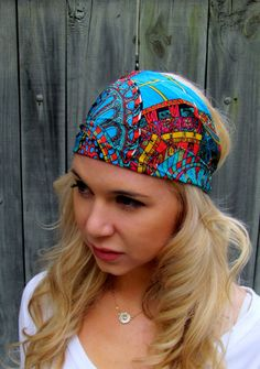 Yoga Wide Headband Turban Running Band Turquoise by SWAKCouture, $14.00