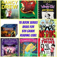 15 Book Series Ideas for 5th Grade Reading Level (AR, Accelerated Reader)