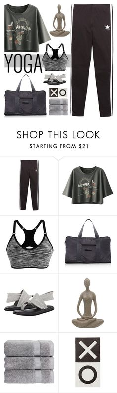 """""""Yoga"""" by fanfanfann ❤ liked on Polyvore featuring adidas Originals, adidas, sanuk, Christy and Pottery Barn"""