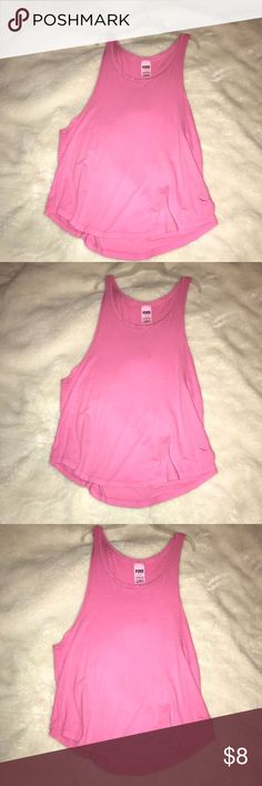 Victoria's Secret Pink Muscle Tanks Pink muscle tanks in pink and teal. 1 for $5, both for $8, nice quality, rarely worn, no tears PINK Victoria's Secret Tops Muscle Tees