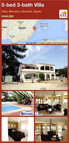 5-bed 3-bath Villa in Villa, Moraira, Alicante, Spain ►€449,000 #PropertyForSaleInSpain