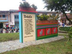 El Zócalo, imagen representativa del  municipio de Guatapé.