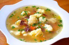 Sopa de coliflor y jamón ibérico. Receta