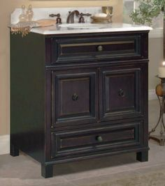 The Barton Hill bath vanity from Sunny Wood.  Find out more at www.sunnywood.biz.