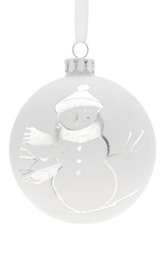 Jim Marvin Snowman Glass Ball Ornament available at #Nordstrom