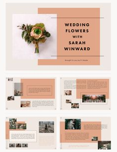 Editorial Layouts | Sallie Harrison Design Studio in Abstract Pantones