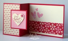 Julie's Stamping Spot -- Stampin' Up! Project Ideas Posted Daily: Sending Love Tri-Fold Valentine