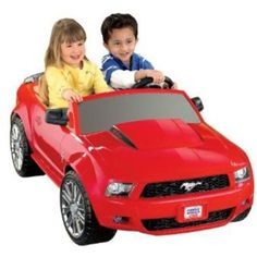 Fisher-Price Power Wheels Red Ford Mustang 12-Volt Battery-Powered Ride-On - Walmart.com