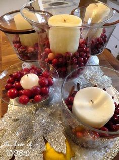 cranberries and candles