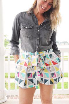Pleated Shorts Pattern, BurdaStyle 06/2016 #110A