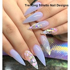 Stiletto Nails Designs Modern and Easy Idea – Inspired Beauty - Nail design Acrylic Nails Natural, Best Acrylic Nails, Acrylic Nail Designs, Nail Art Designs, Nails Design, Stiletto Nail Designs, Matte Stiletto Nails, Metallic Nails, Gel Nails