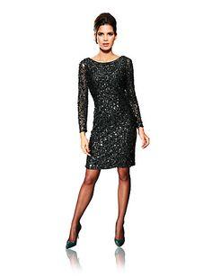 Pailltetenkleid, #Heine little black dress