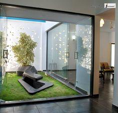 indoor garden / meeting rooms #Office #meetings #meeting room