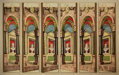 Säulenhalle. Seitenkulissen. Von Schreiber Nr. 33 [Alte Serie].