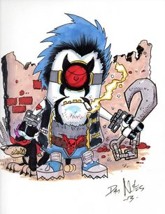 Minion Lobo by Dan nokes. I hear that someone over in the UK has this as a Tattoo