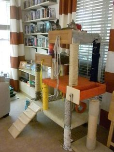 DIY Cat Tree: this one isn't very pretty but the concept will work