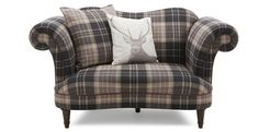 Moray Check Cuddler Sofa Moray | DFS
