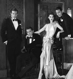 Glamorous  3 dandies and Anne Hathaway