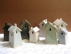 I love these mini ceramic houses!